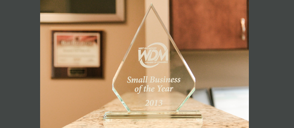Small Business of the Year Award 2013 - Kreamer Law Firm Des Moines Attorneys